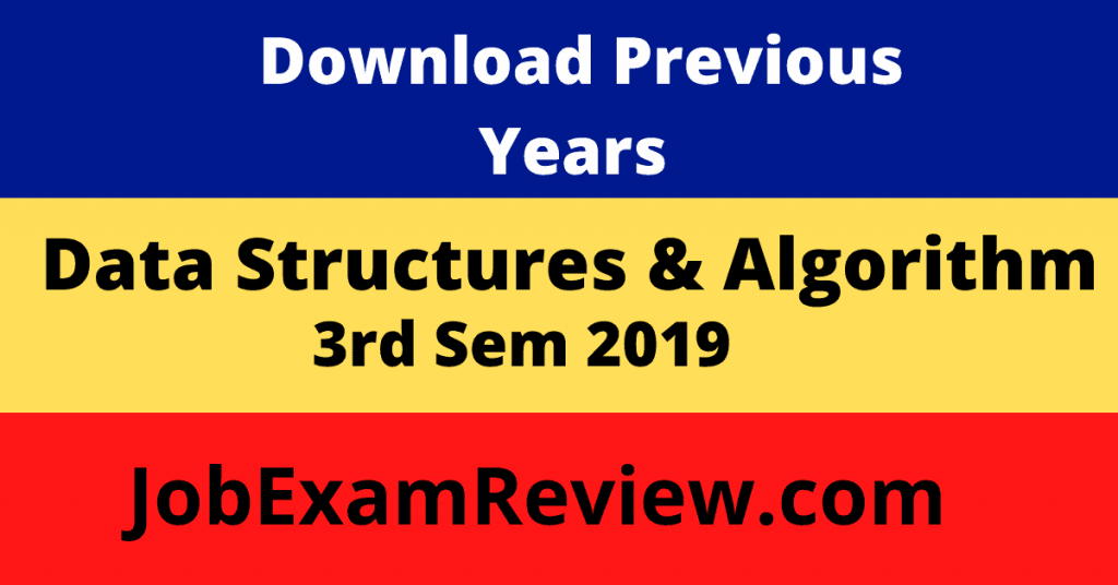 Data Structures 2019