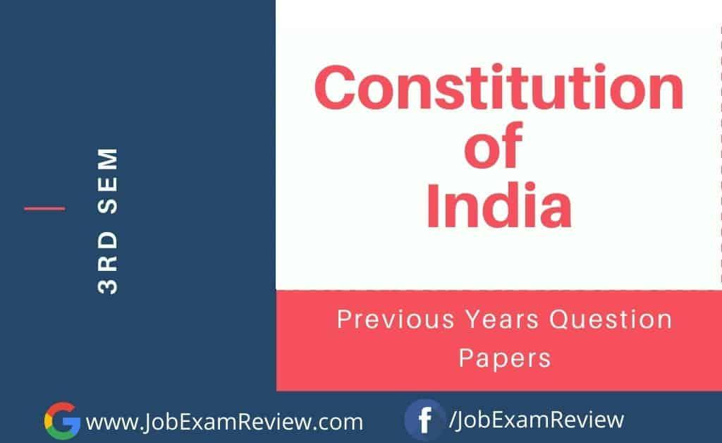 Constitution of India 3rd sem 2021