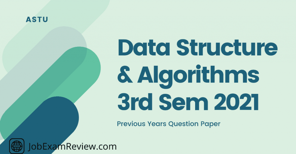 Data Structure and Algorithm 3rd sem 2021