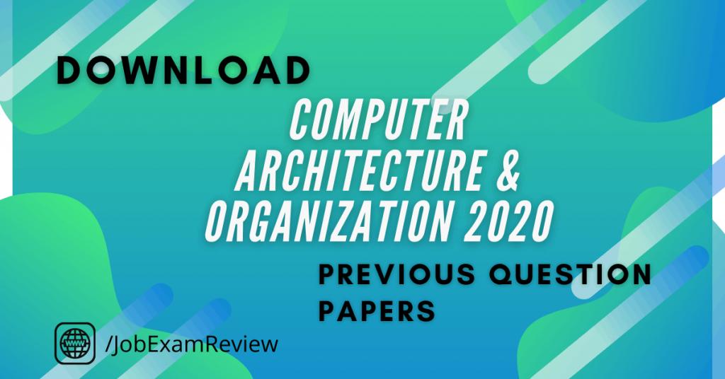 JNTUK B.Tech Computer Architecture and Organization 2020