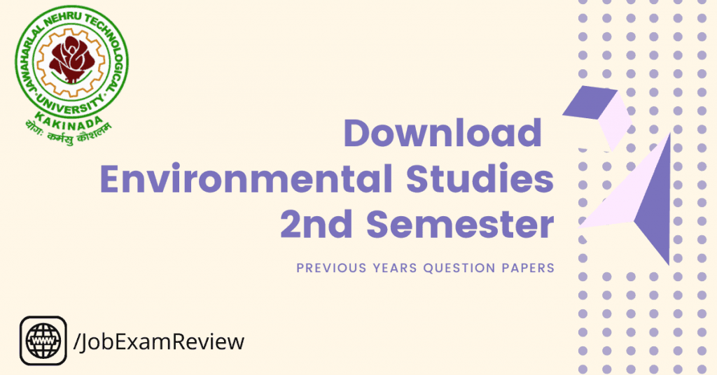 Environmental Studies 2nd sem