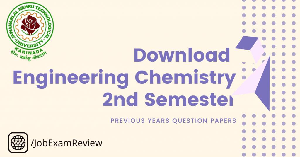 B.Tech JNTUK Engineering Chemistry 2nd sem