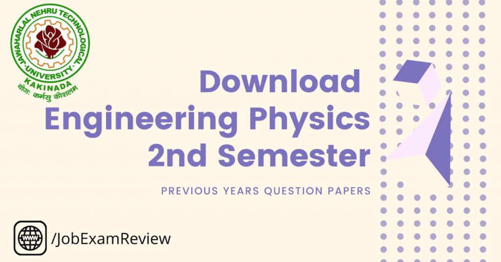 B.Tech JNTUK Engineering Physics 2nd sem