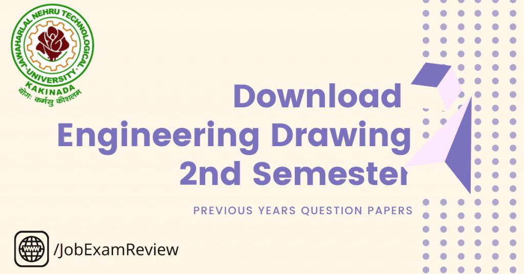 B.Tech Engineering drawing 2nd sem