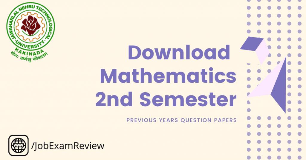 mathematics 2nd sem