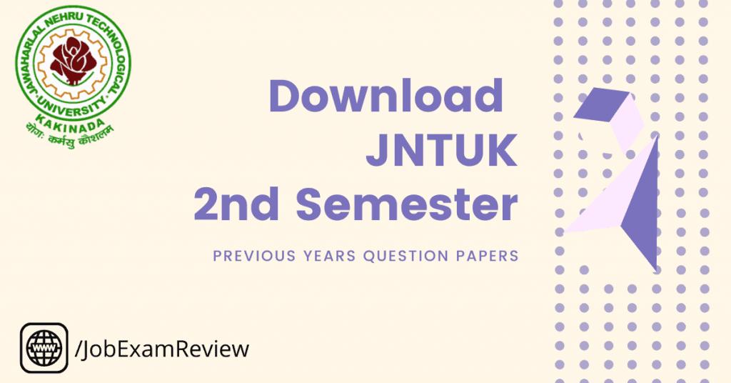 JNTUK B.Tech 2 Semester