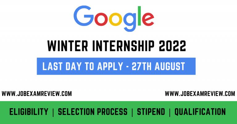 Google winter internship 2022