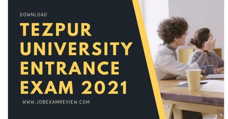 Tezpur university entrance exam