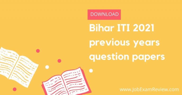 Bihar ITI 2021 previous years question papers